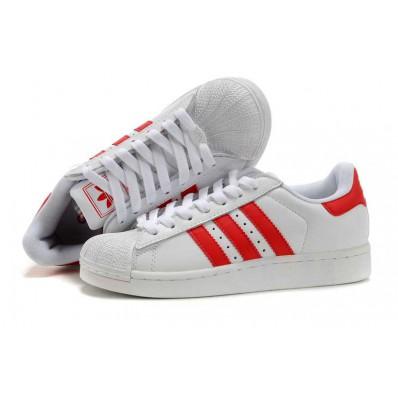 adidas superstar 2 rouge et blanche