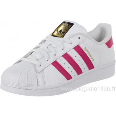 adidas superstar rose et blanche