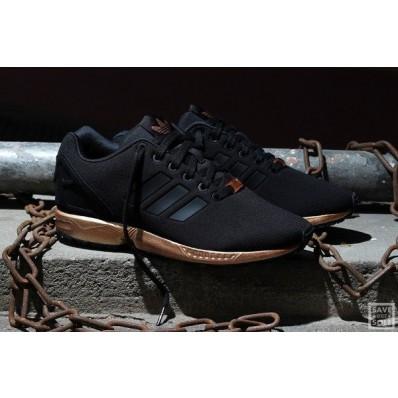 adidas zx flux femme noir et or