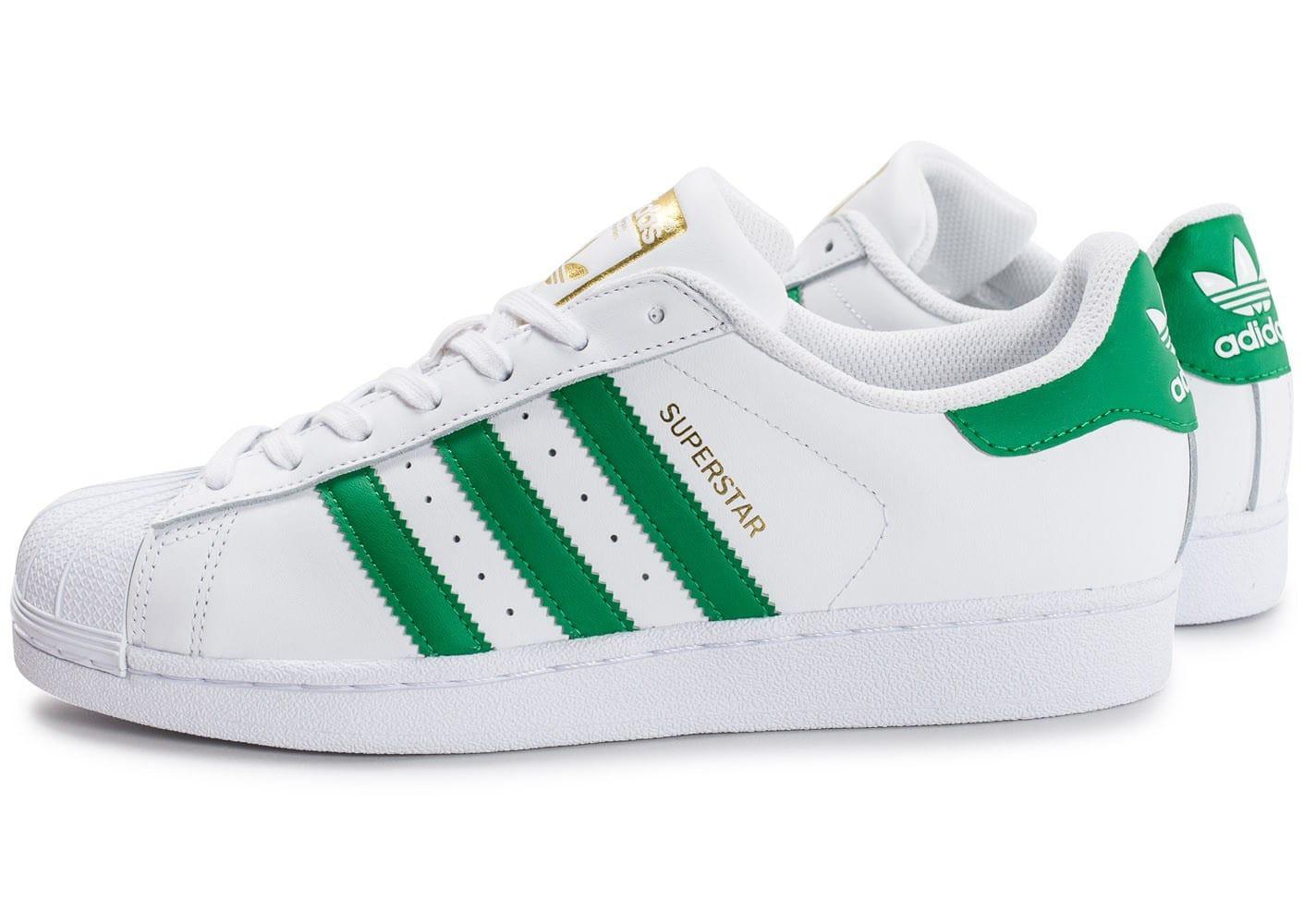 chaussure adidas blanche et verte