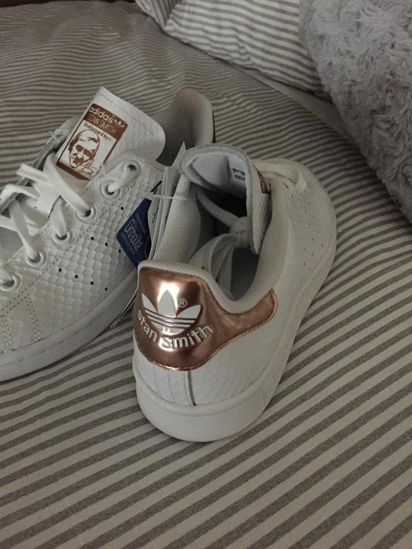 adidas stan smith rose gold gloss