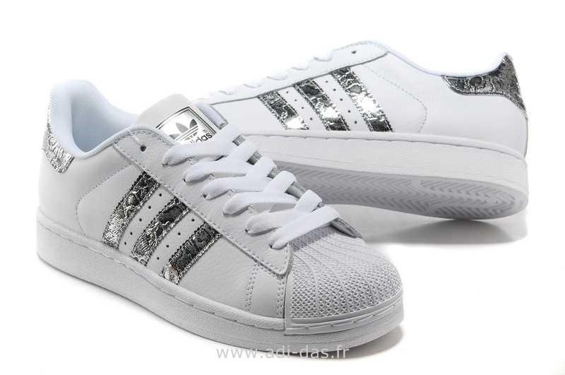 adidas superstar blanche argent