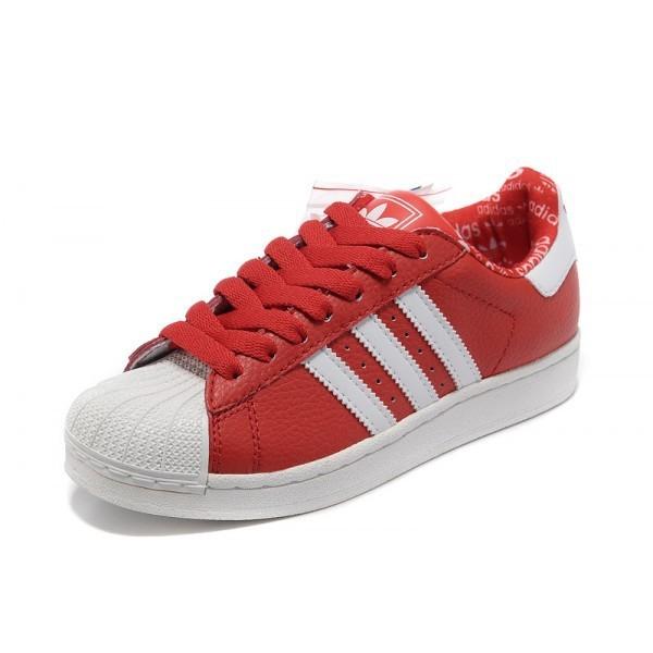 adidas superstar blanche et rouge