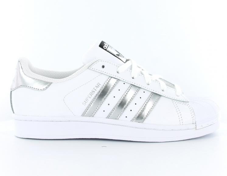 adidas superstar femme blanche et noir