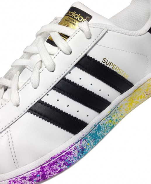 Adidas Originals X Rita Ora Superstar Baskets imprimé taches de peinture