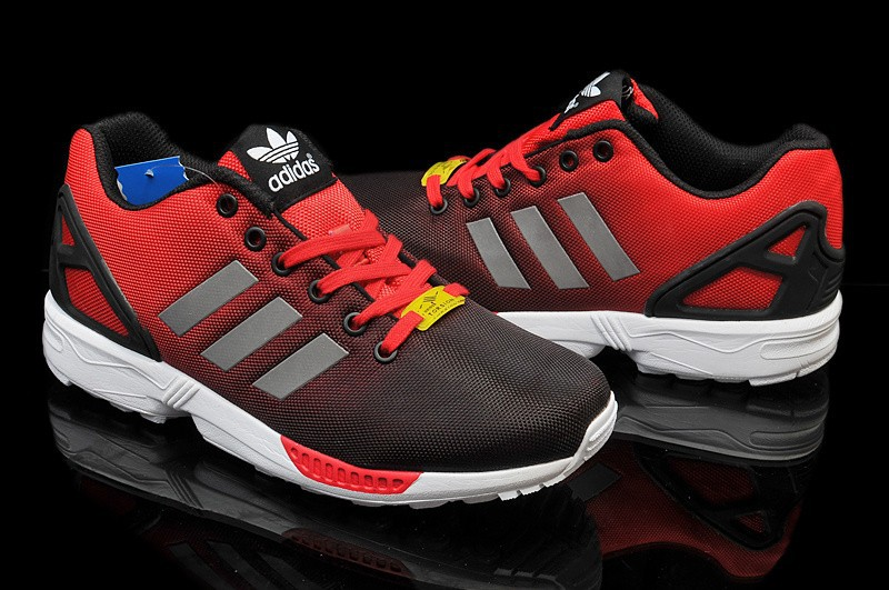 adidas zx flux hommes rouge
