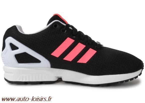 adidas zx flux rose fluo et noir
