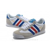 baskets adidas dragon bleu bandes blanc